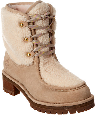 Tory Burch Meadow Suede & Shearling Boot