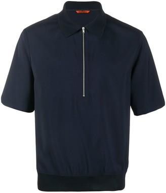 Barena fine knit zipped polo shirt