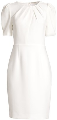 Elie Tahari Delphine Puff-Sleeve Sheath Dress