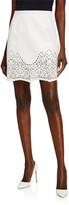 ZUHAIR MURAD Alicante Leather Mini Skirt