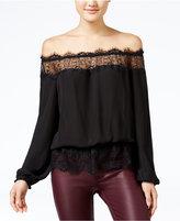 Jessica Simpson Frannie Lace-Trim Off-The-Shoulder Top