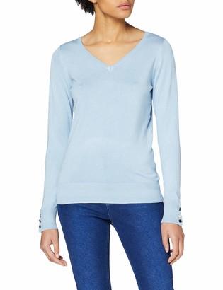 Dorothy Perkins Women's Pale Blue V Neck Jumper Sweater 12