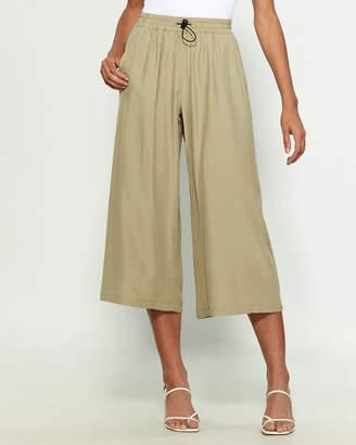 Hache Drawcord Crop Pants