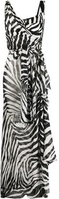 Dolce & Gabbana Zebra-Print Asymmetric Dress