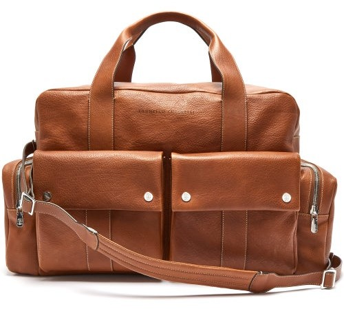 Brunello Cucinelli Grained-leather Holdall - Brown