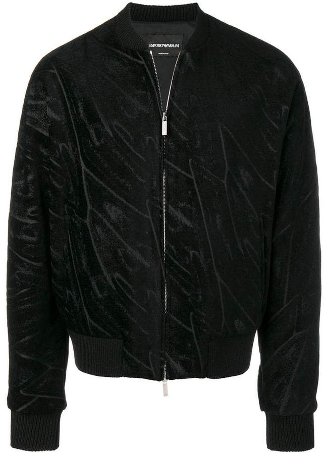 Emporio Armani patterned bomber jacket