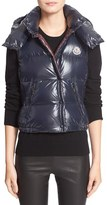 Moncler Women's 'Galene' Water Resistant Shiny Nylon Hooded Down Vest