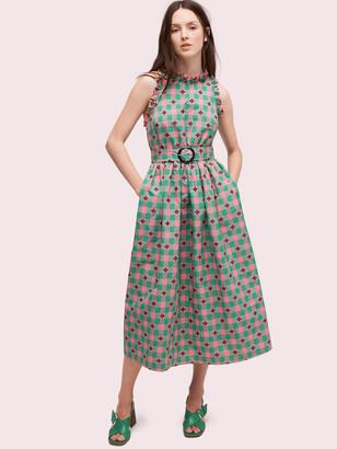 Kate Spade Gingham Spade Belted Dress