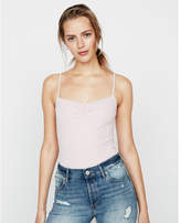 Express one eleven ribbed ruched front cami