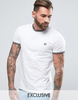 Fred Perry Twin Tipped T-Shirt Exclusive in White