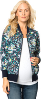 A Pea in the Pod Zip Front Crepe De Chine Maternity Jacket