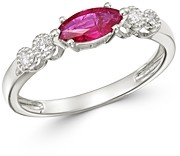 Bloomingdale's Ruby & Diamond Ring in 14K White Gold - 100% Exclusive