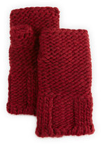 Portolano Wool-Blend Fingerless Glove, Bordeaux