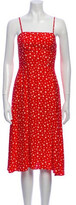 Thumbnail for your product : HVN Silk Midi Length Dress Red