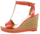 Lanvin Patent Leather Wedge Sandals