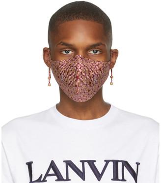 Lanvin Burgundy JL Maze Face Mask