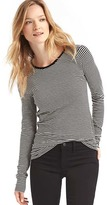 Gap Long sleeve stripe tunic tee