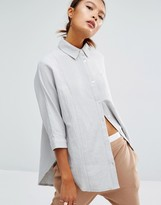 Daisy Street 3/4 Sleeve Paneled Casual Shirt