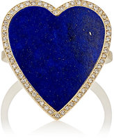 Jennifer Meyer Women's White Diamond & Lapis Lazuli Heart Ring