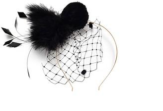 Fashionable Black Head Piece
