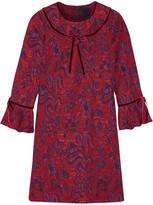 Anna Sui Floral-jacquard Mini Dress - Red