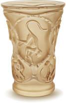 Lalique Monkey Vase - Gold Luster