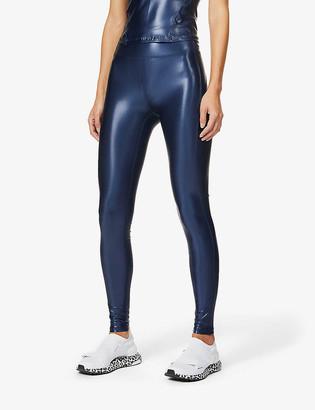 Heroine Sport Barre metallic stretch-jersey leggings