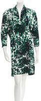 Balenciaga Printed Scoop Neck Dress
