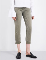 Current/Elliott The Fling relaxed-fit mid-rise jeans