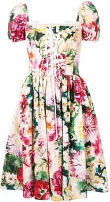 Dolce & Gabbana Floral Print Skater Dress
