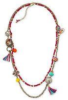 Betseyville by Betsey Johnson Bead & Tassel Layered Necklace