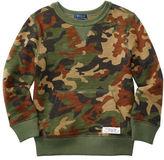 Ralph Lauren Boys 2-7 Ribbed Camo Sweatshirt