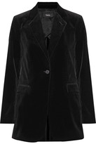 Theory Berdyne B Stretch-cotton Velvet Blazer - Black