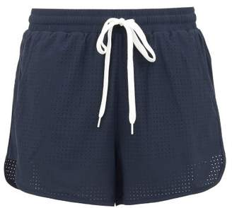 The Upside Perforated Performance Shorts - Womens - Blue