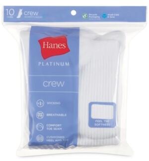 Hanes Women's Platinum 10pk Crew Socks
