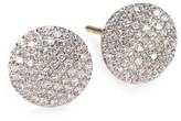 Phillips House Pave Diamond & 14K Yellow Gold Infinity Stud Earrings