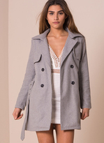 Missy Empire Lola Grey Tailored Wool Coat