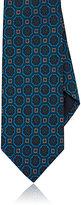 Drakes Drake's Men's Medallion-Print Necktie-GREEN