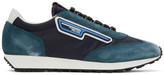 Prada Blue and Navy Suede Sneakers