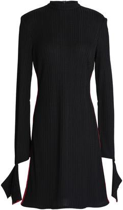 Ellery Striped Ribbed-knit Mini Dress