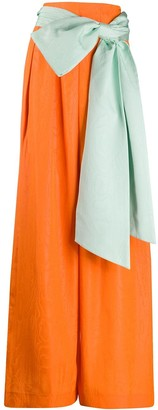 Alice + Olivia Front Bow Palazzo Trousers