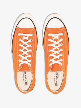 Converse Orange Chuck 70 Low Top Sneakers