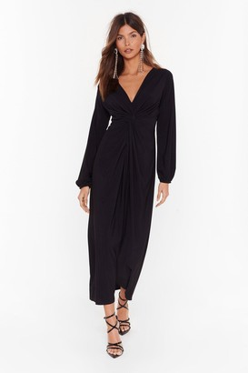 Nasty Gal Are You Ready for the Plot Twist Maxi Dress