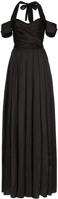Rasario Off-The-Shoulder Flared Gown