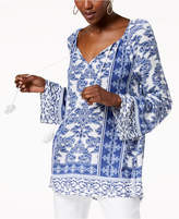 INC International Concepts I.n.c. Printed Tie-Neck Tunic, Created for Macy's