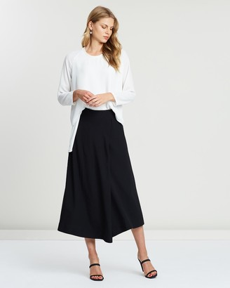 Faye Black Label - Women's Black Midi Skirts - Draped Wrap Skirt - Size One Size, 16 at The Iconic