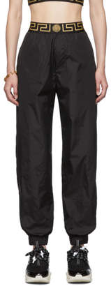 Versace Underwear Black Nylon Greek Key Lounge Pants