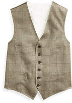 Ralph Lauren Windowpane Tussah Silk Vest