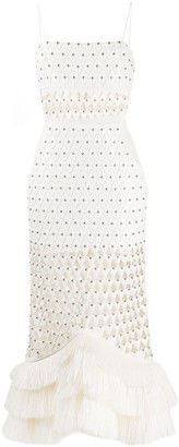 David Koma Laser-Cut Studded Dress