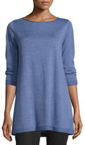 Eileen Fisher 3/4-Sleeve Merino Wool Tunic